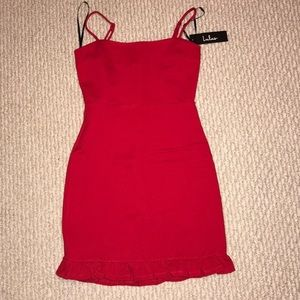 NWT Lulu's Spoonful of Sass Red Dress, XS